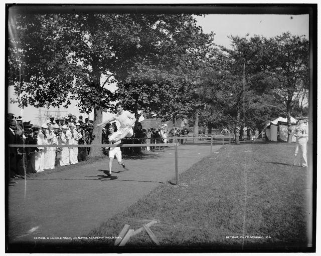 A Hurdle race, U.S. Naval Academy field day