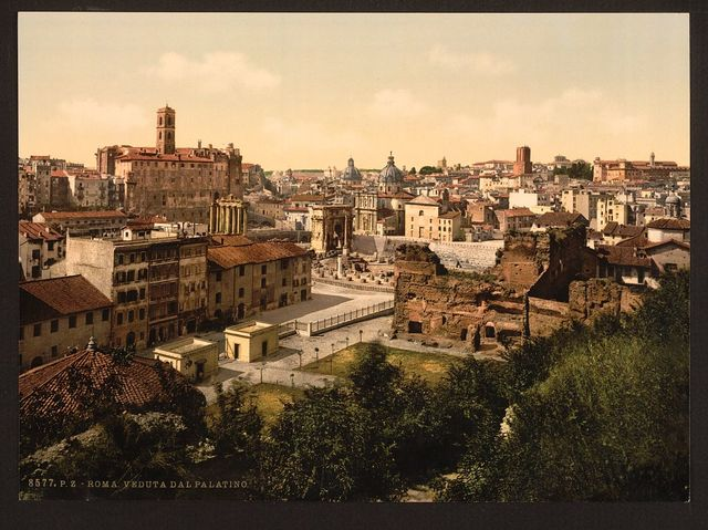 [A panorama from the Palatine, Rome, Italy]