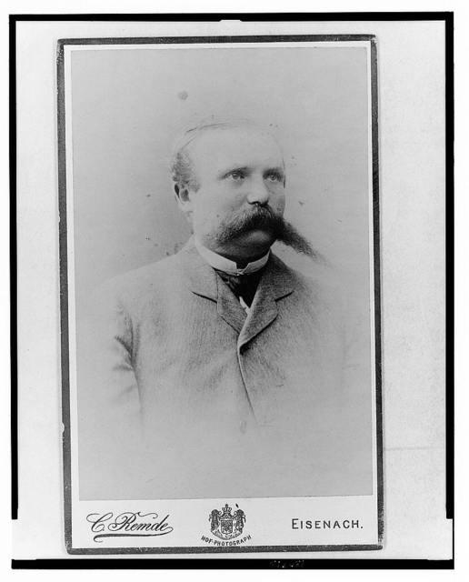 [Adolf C.A. Runnebaum, half-length portrait, facing slightly right] / C. Remde, Eisenach.