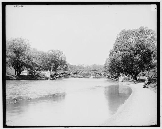 [Albany, N.Y., bridge across lake, Washington Park]