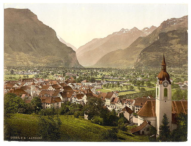 [Altdorf, general view, Lake Lucerne, Switzerland]