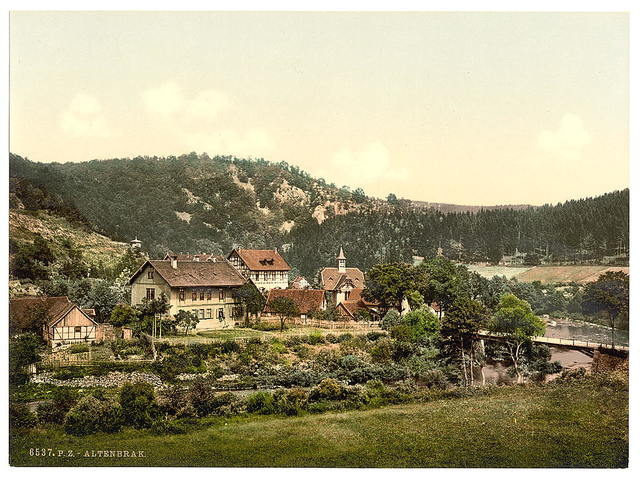 [Altenbrak from the west, Hartz, Germany]