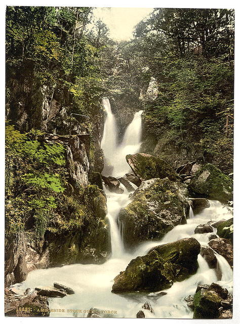 [Ambleside, Stock Ghyll Force, Lake District, England]
