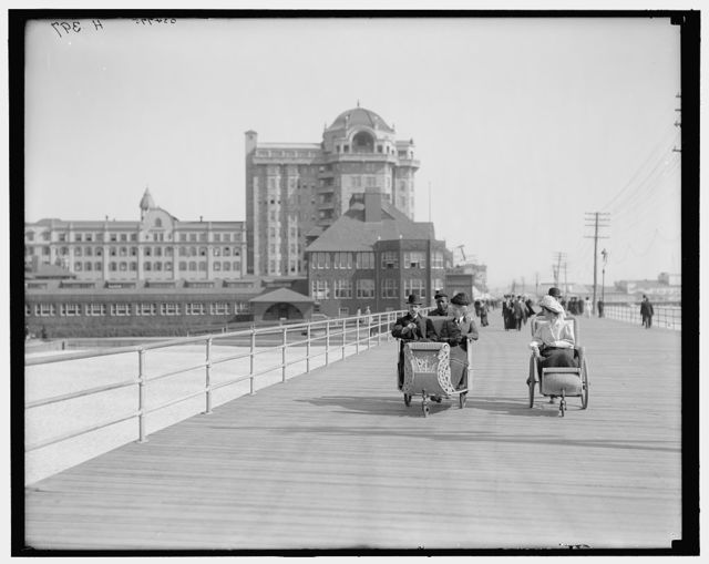 [Atlantic City, N.J., roller chairs on the boardwalk]