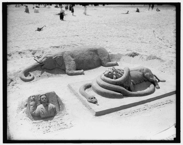 [Atlantic City, N.J., sand modelling]