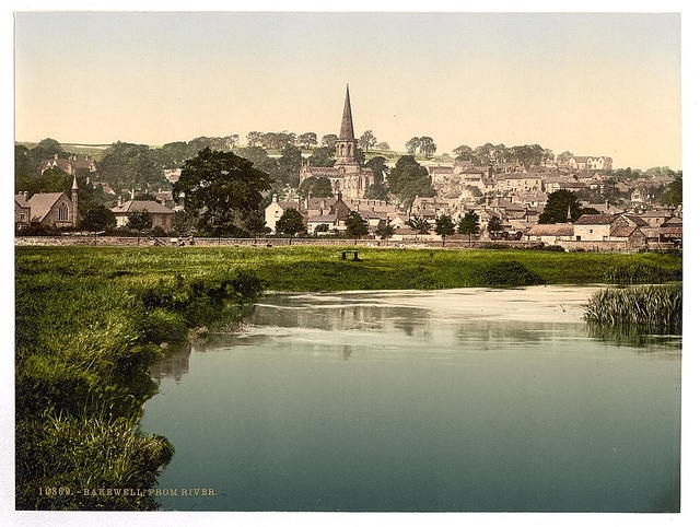 [Bakewell, from river, Derbyshire, England]