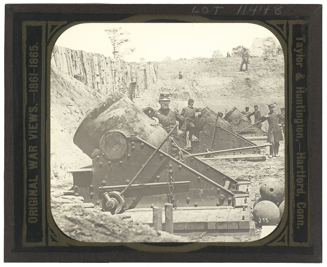 [Battery No. 4 near Yorktown mounting ten 13 inch mortars each weighing 20,000 pounds. South end]