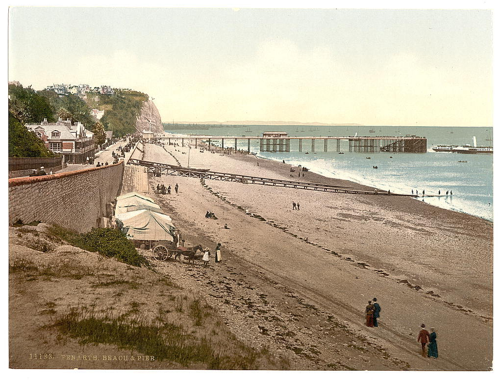 [Beach and pier, Penarth, Wales]