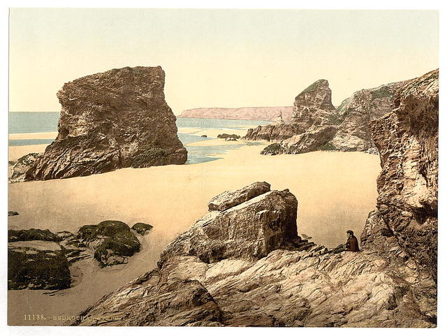 [Bedruthan Steps, I, Cornwall, England]