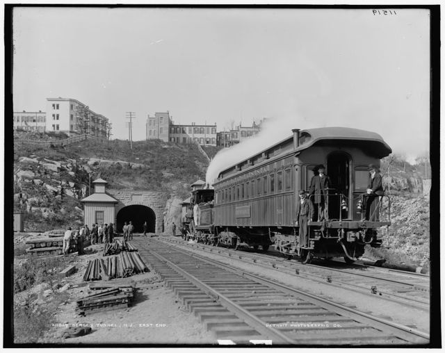 Bergen tunnel, N.J., east
