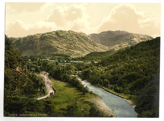 [Borrowdale Valley, from Bowder Stone, Lake District, England]