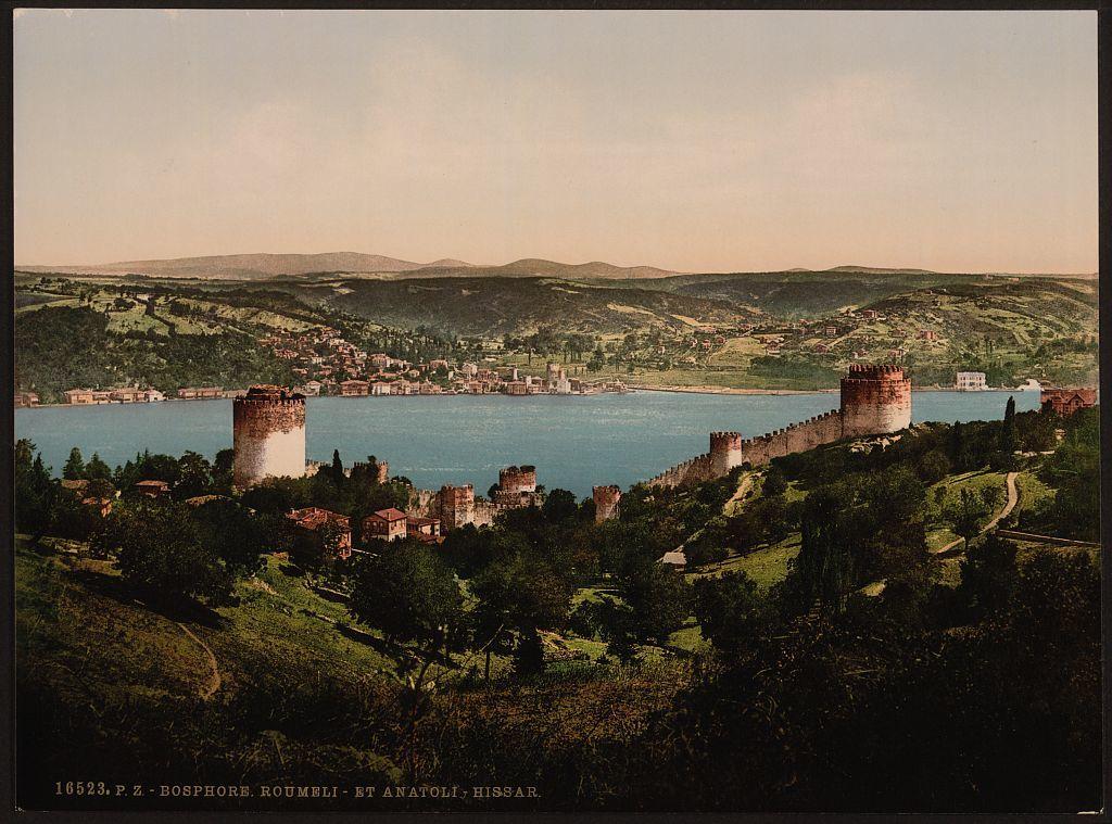 [Bosphorus (i.e., Bosporus), Rumeli and Anadali-Hissar, (i.e., Anadolu Hisarı) Constantinople, Turkey]