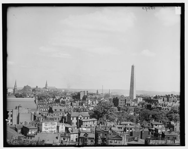 [Boston, Mass., birdseye view of Charlestown & Bunker Hill]