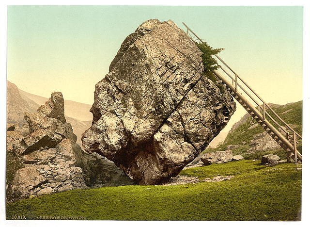 [Bowder Stone, Lake District, England]