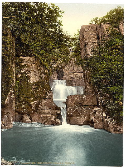 [Bracklinn Falls and bridge, Callander, Scotland]