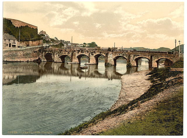 [Bridge, Carmarthen, Wales]