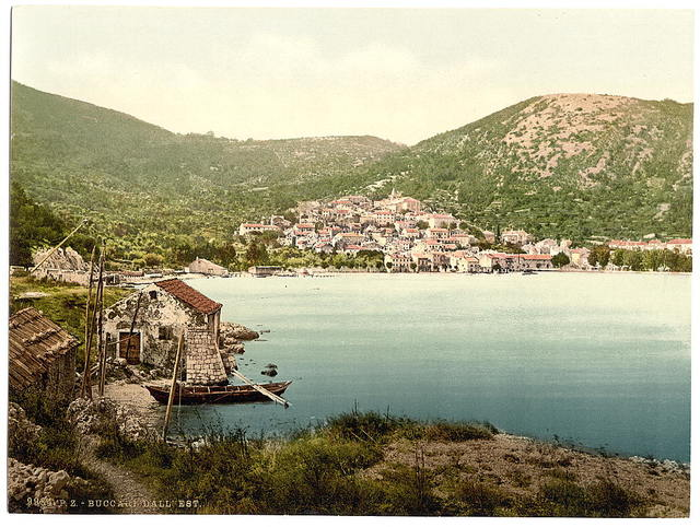 [Bucarri (i.e., Buccari), from the east, Croatia, Austro-Hungary]