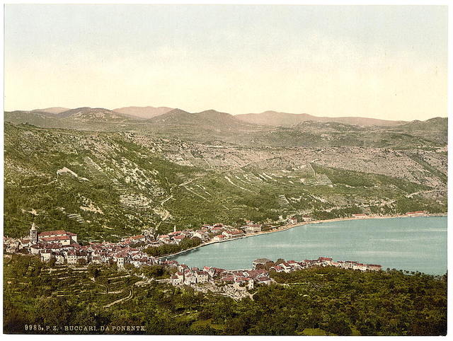 [Bucarri (i.e., Buccari), from the west, Croatia, Austro-Hungary]