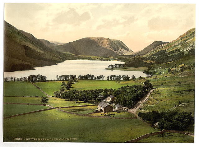 [Buttermere and Crummock Water, Lake District, England]