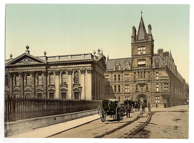 [Caius College and Senate House, Cambridge, England]
