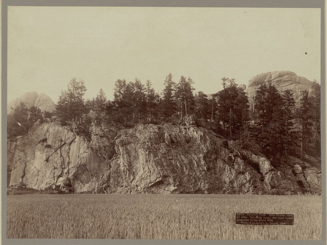 """Calamity Peak. Near Custer, named after """"Calamity Jane,"""" the most noted character in the Black Hills"""