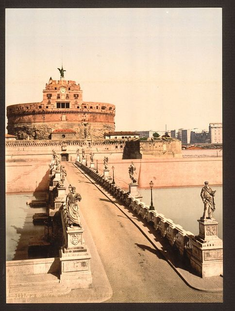 [Castle and bridge of St. Angelo, Rome, Italy]