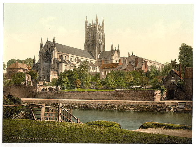 [Cathedral, S. W., Worcester, England]