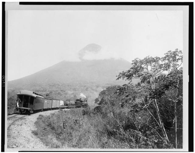 [Central Railroad and Volcano de Agua, Guatemala]