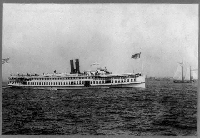 Central R.R. of New Jersey - Sandy Hook route steamer, Sandy Hook, N.J.