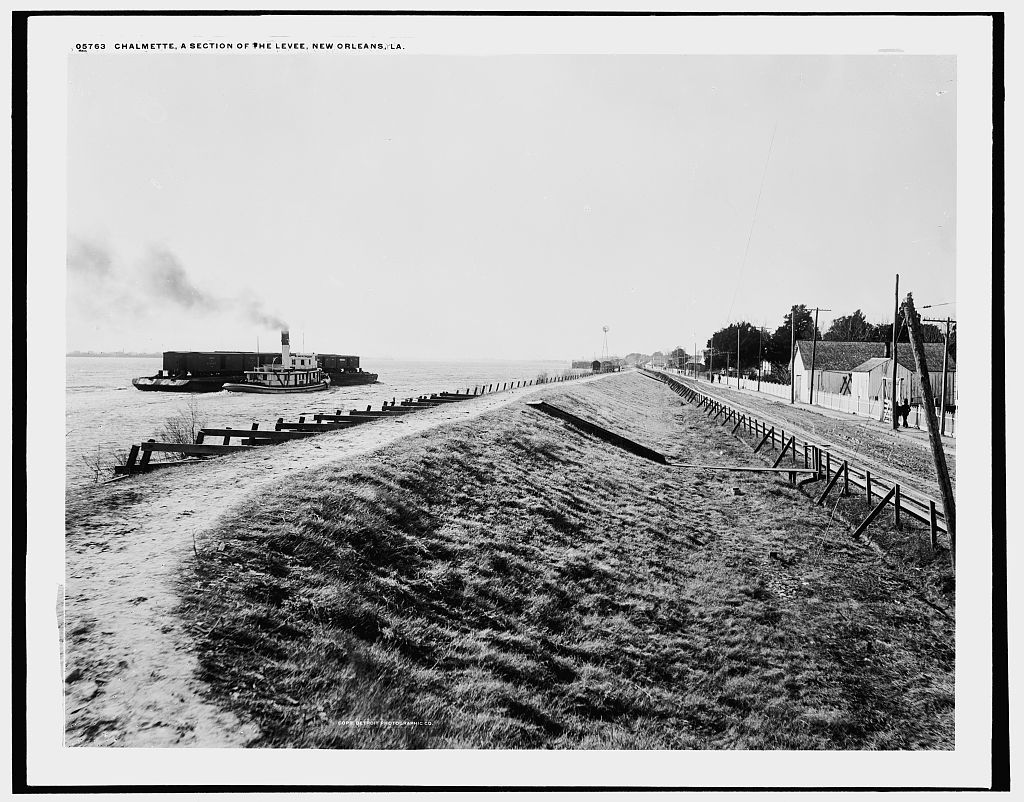 Chalmette, a section of the levee, New Orleans, La.