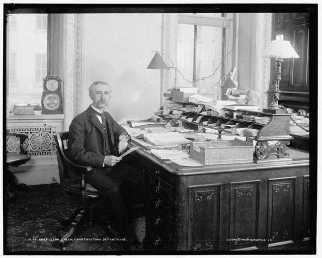 Chief clerk Green, Construction Department