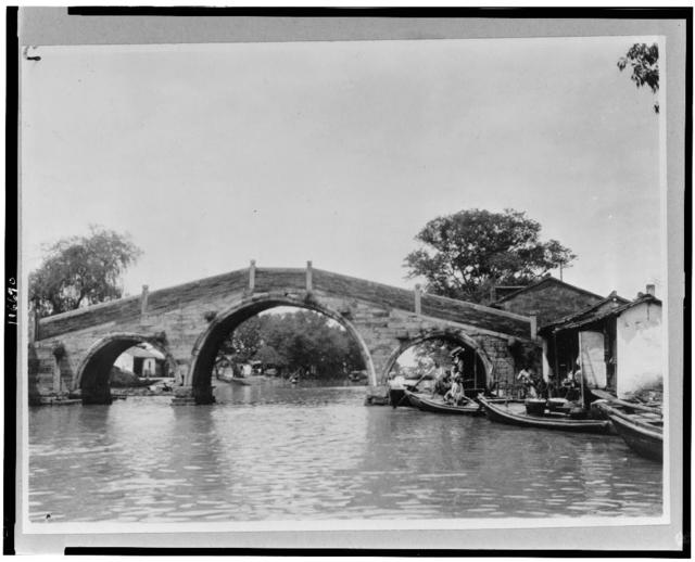 China, Kiangsu Province, Soochow, bridge over canal
