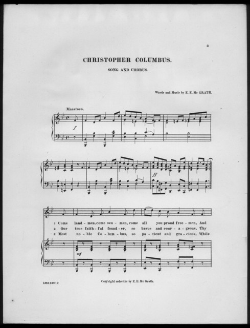 Christopher Columbus march song