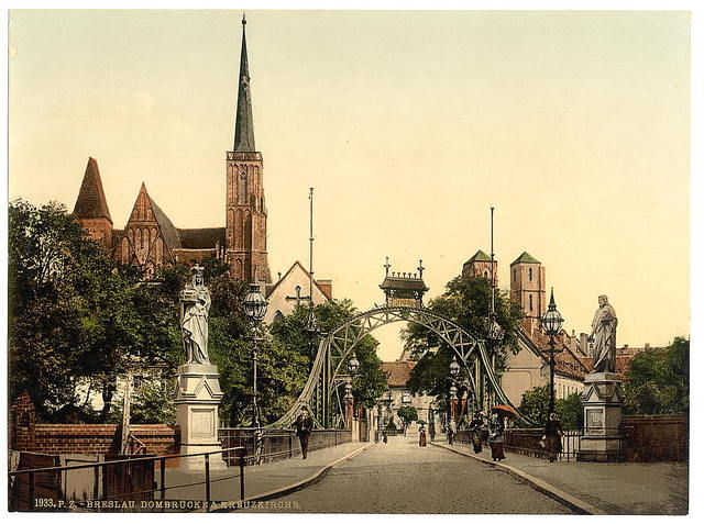 [Church Bridge, Breslau, Silesia, Germany (i.e., Wrocław, Poland)]