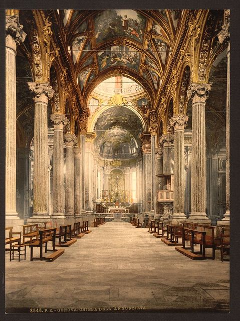 [Church of the Annunciation, interior, Genoa, Italy]