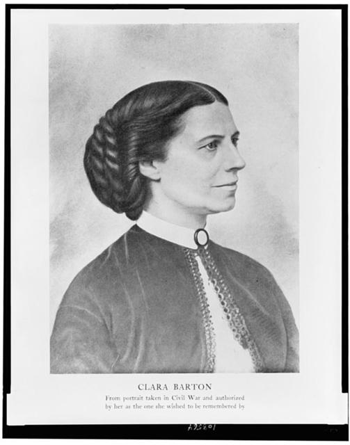 Clara Barton - from portrait taken in Civil War and authorized by her as the one she wished to be remembered by