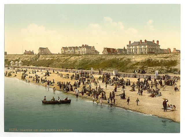 [Cliffs and beach, Clacton-on-Sea, England]