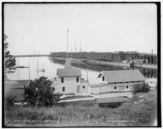 Coal and ore docks, Oswego, N.Y.