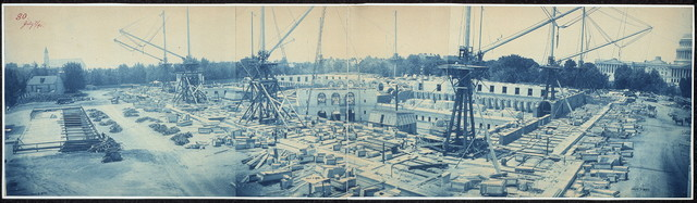 Construction of The Library of Congress, Washington, D.C., July 7, 1890