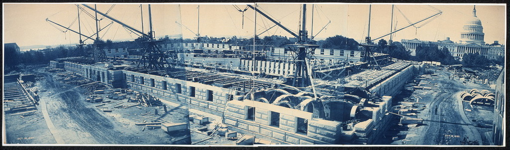 Construction of the Library of Congress, Washington, D.C., Oct. 18, 1890