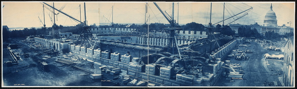 Construction of the Library of Congress, Washington, D.C., Oct. 3, 1890
