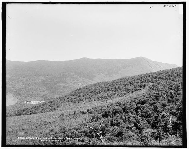 Crawford House and Saco Lake from Mt. Echo, White Mountains