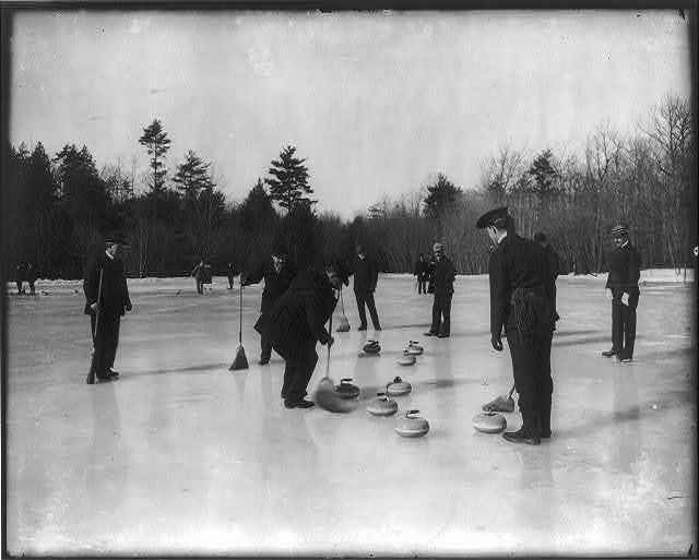 [Curling on Jamaica Pond, Boston, Massachusetts]