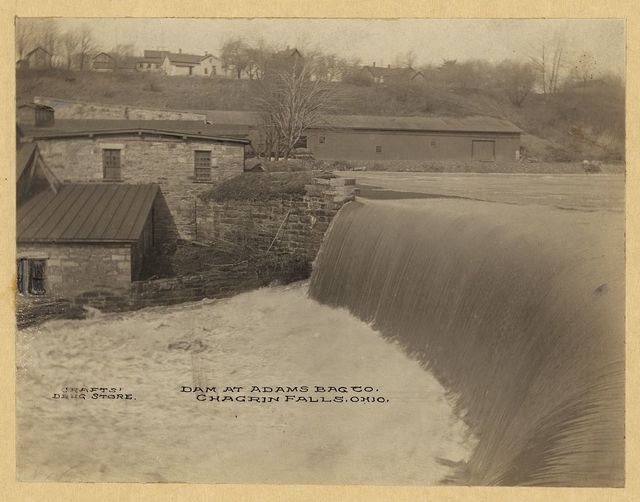 Dam at Adams Bag Co., Chagrin Falls, Ohio