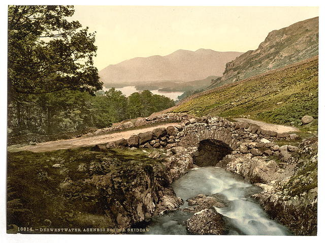 [Derwentwater, Ashness Bridge and Skiddaw, Lake District, England]