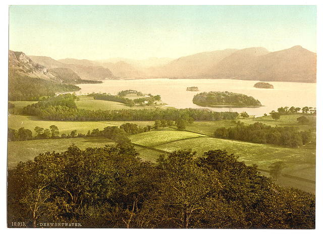[Derwentwater, from Castle Hill, Lake District, England]