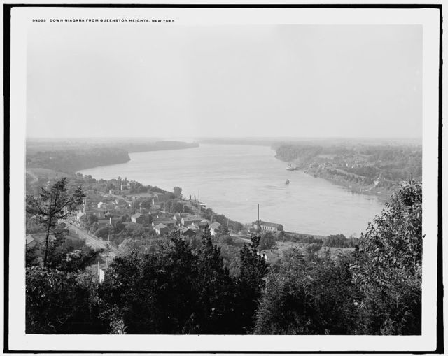 Down Niagara from Queenston Heights, New York [i.e., Canada]