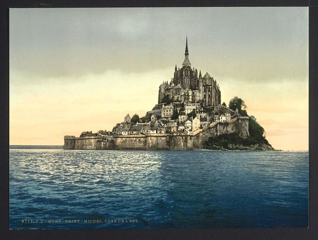 [East coast at high water, Le Mont St. Michel, France]