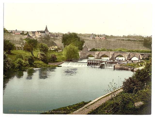 [East Farleigh Lock, near Maidstone, England]