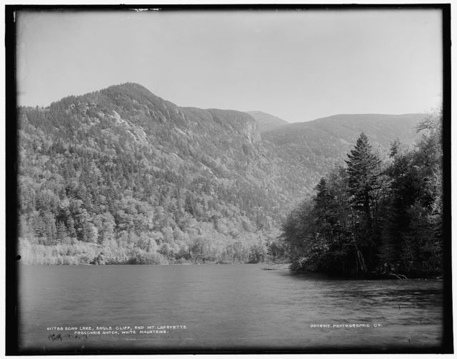 Echo Lake, Eagle Cliff, and Mt. Lafayette, Franconia Notch, White Mountains